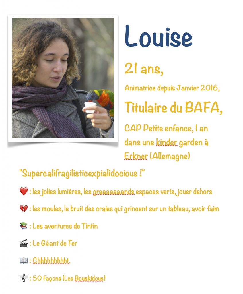 Portrait Louise animatrice Les Ludis